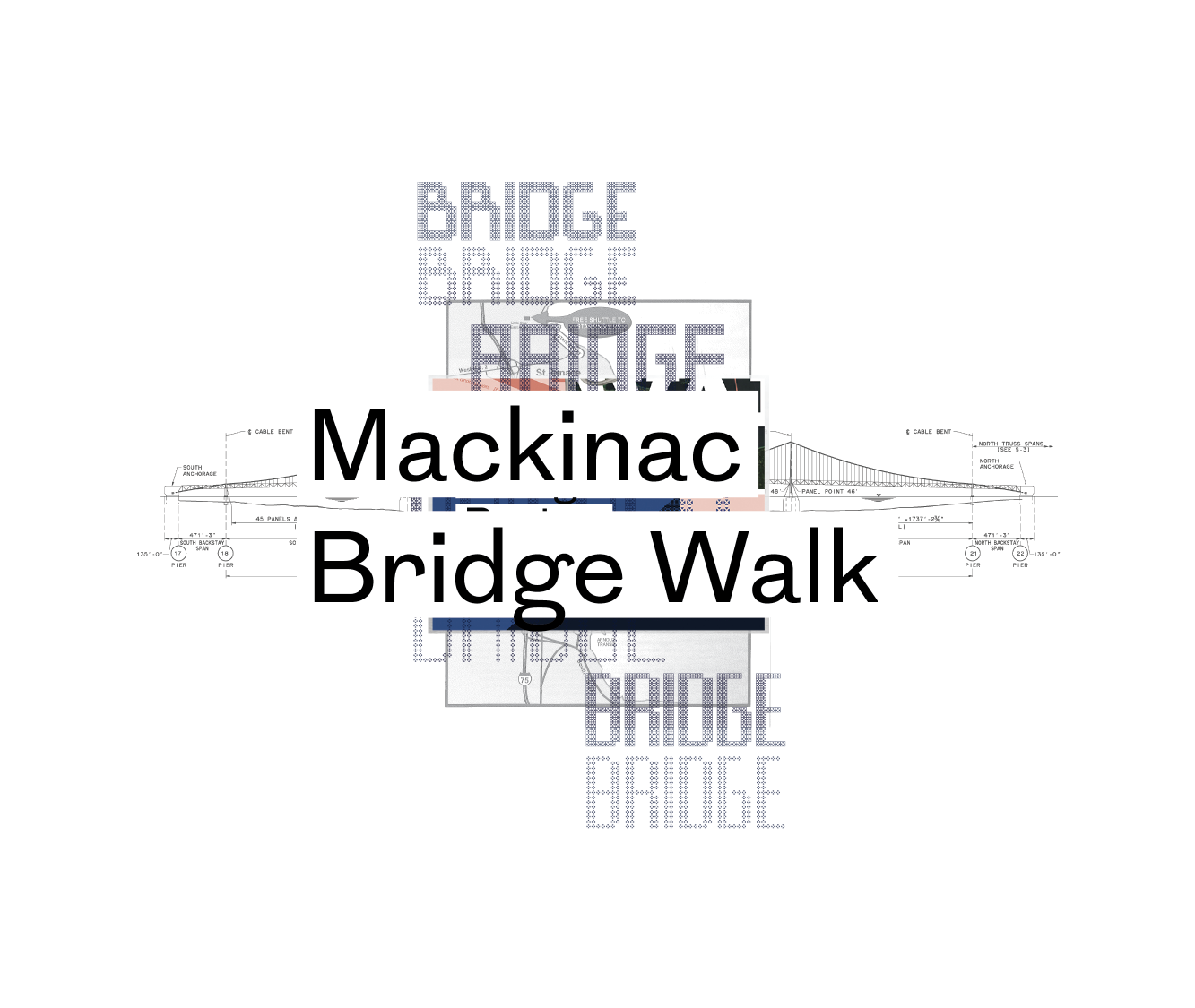 Mackinac Bridge Walk Poster