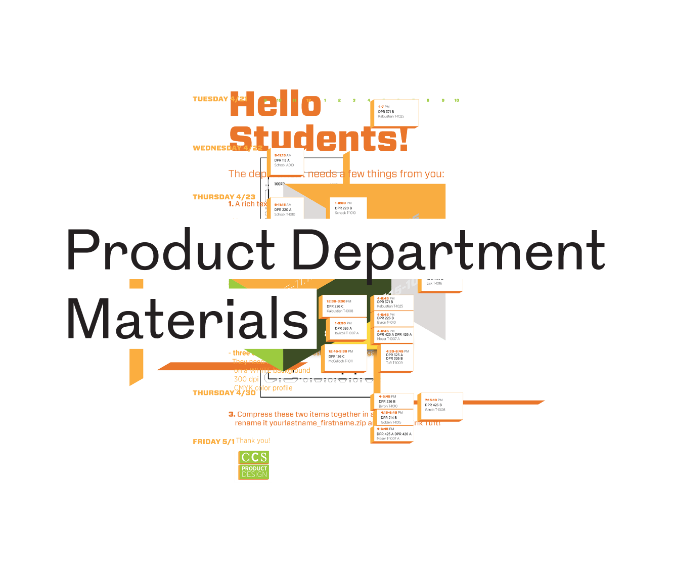 CCS Product Department Materials